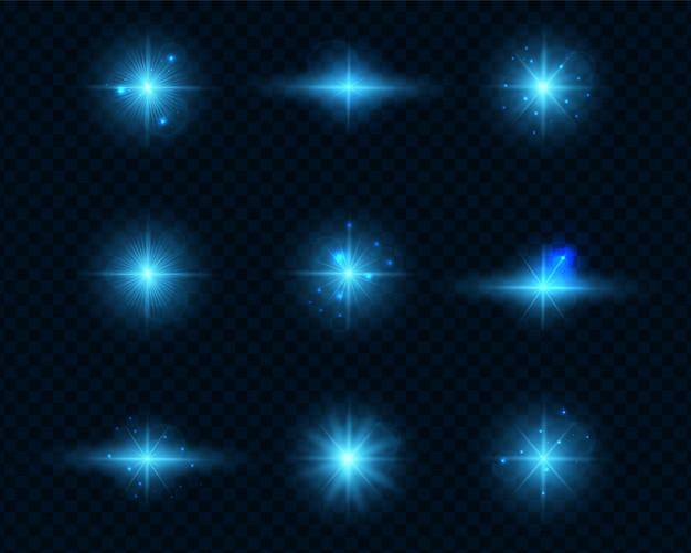 Blue light on a transparent background.