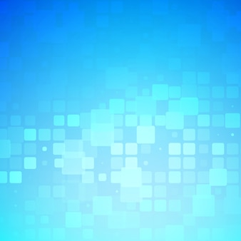 Blue and light turquoise glowing rounded tiles background