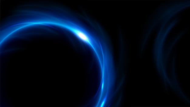 ワイドスクリーンで青い光がねじれた