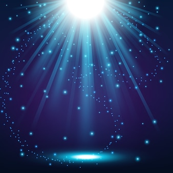 Blue lights shining background