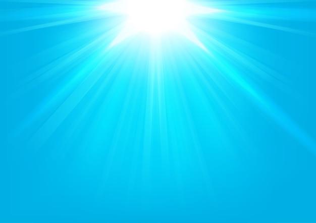 Blue lights shining on bright background vector illustration