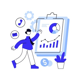 Синяя линия иллюстрации бизнеса