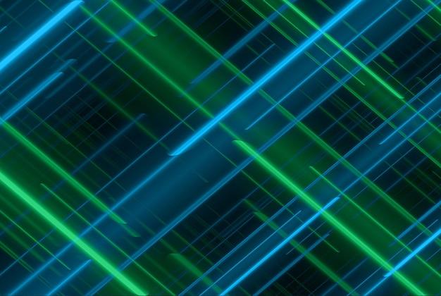 青い線の動きの抽象的な背景