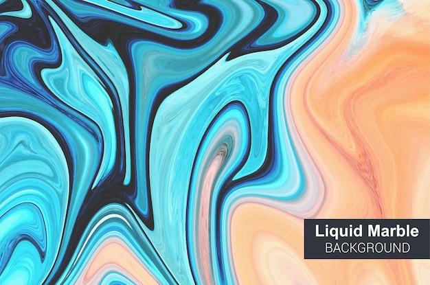 Синий жидкий мраморный фон. текстура. красивый абстрактный дизайн.