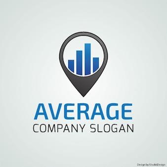 Blue logo for a company