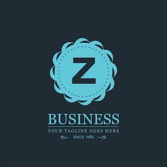 Blue logo letter z
