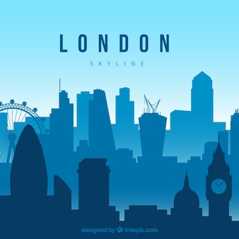 Blue london skyline concept