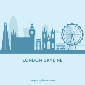 Голубой лондонский дизайн