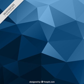 Blue low poly background