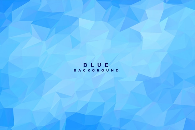 Blue low poly empty background
