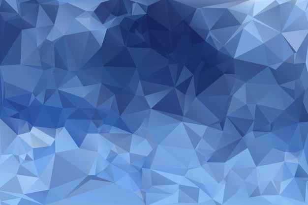 Blue low poly