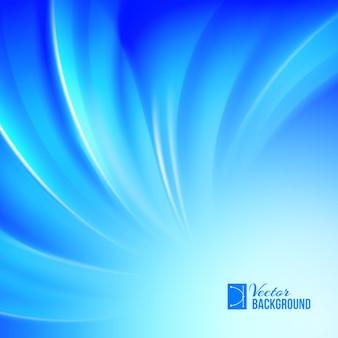 Blue luminous waves.