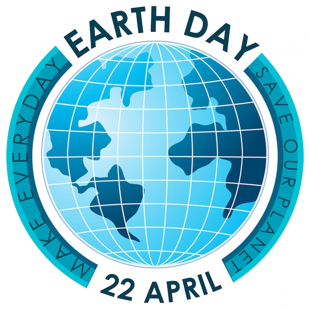 Синий постер каждый день, день земли