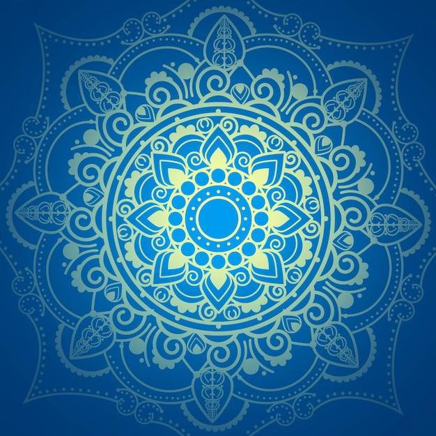 青い曼荼羅の背景