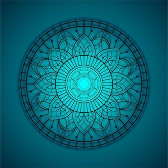 Blue mandala backgrpound