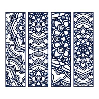 Blue mandala banners