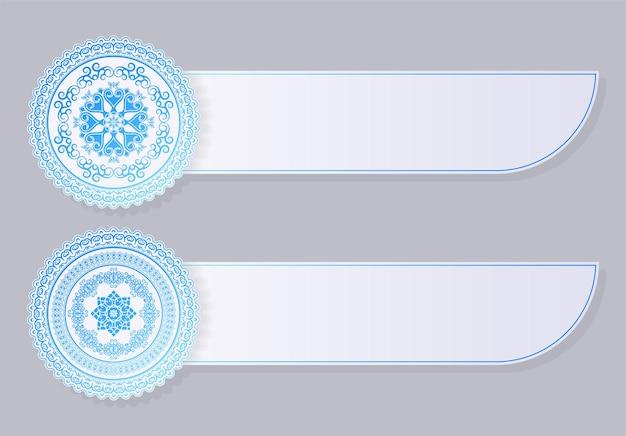 Синяя мандала декоративный баннер