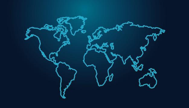 Синий вектор карты