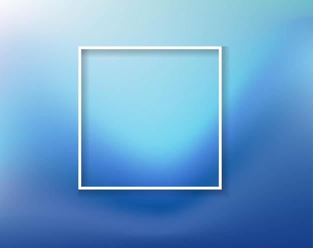 Синий морской фон с белой рамкой