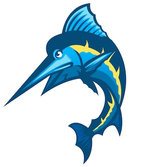 Blue marlin fish for local market fish meat