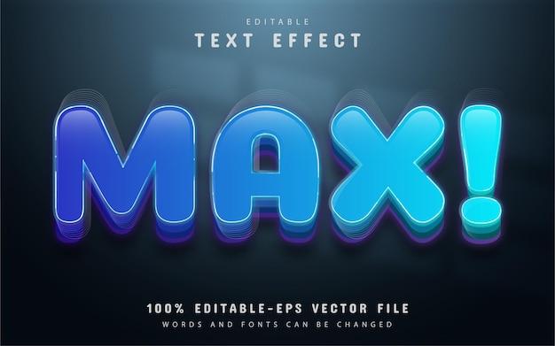 Blue max editable text effect