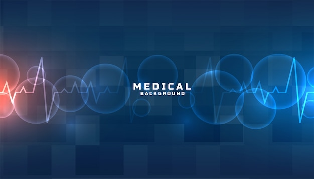 Blue medical and healthcare background