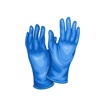 Перчатки защитные медицинские латексные синие