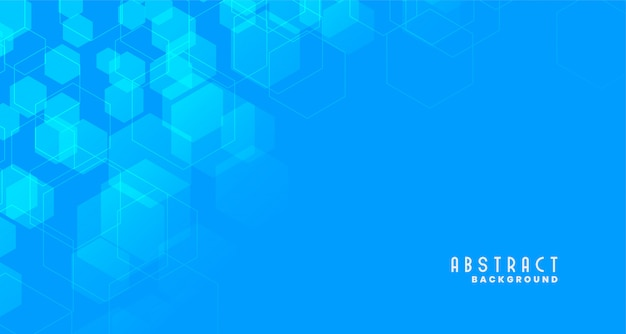 Blue medical style hexagonal background