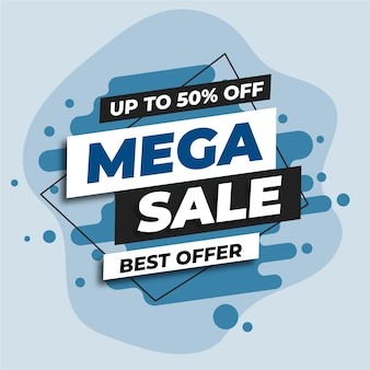 Blue mega sale web banner
