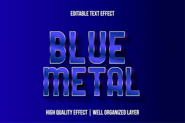 Blue metal editable modern text effect font styles