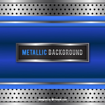 Blue metallic background