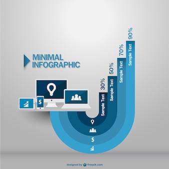 Blue minimal infographic
