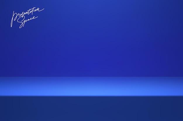 Синяя сцена подиума для презентации продукта