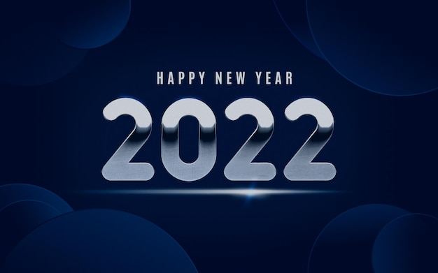 Blue modern 2022 with silver lettering