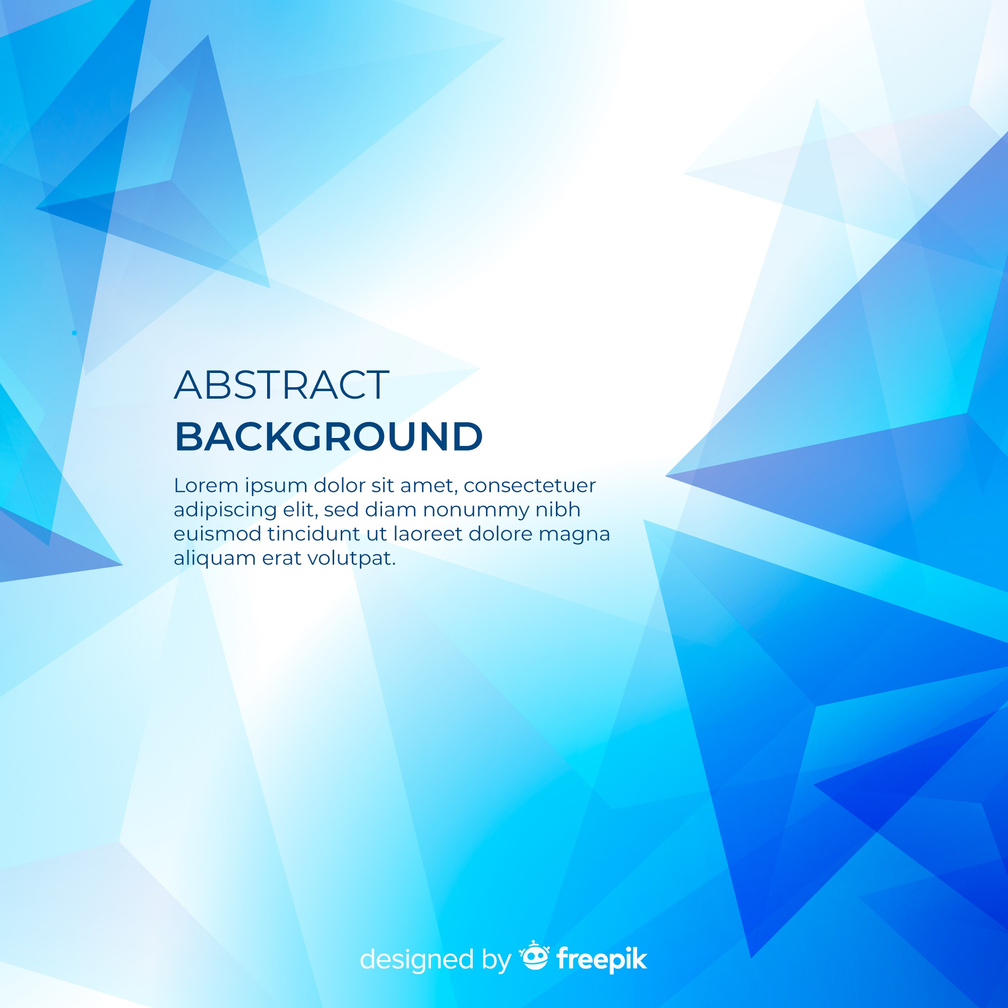 Blue modern abstract background with geometric shapes