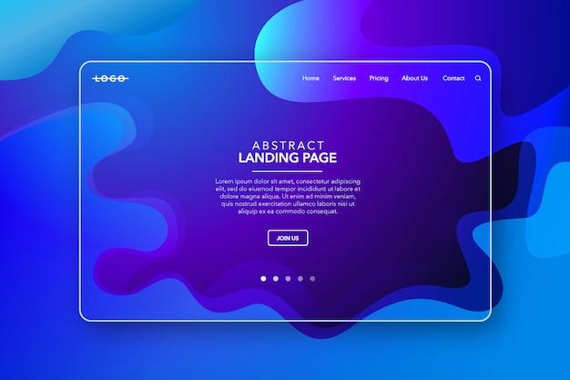 Синий современный абстрактный фон целевой страницы