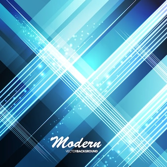 Blue modern abstract shape background