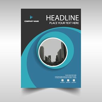 Blue modern annual report template