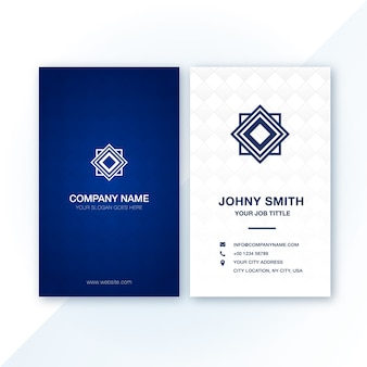 Blue modern business card with pattern