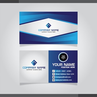 Blue modern creative business card and name card