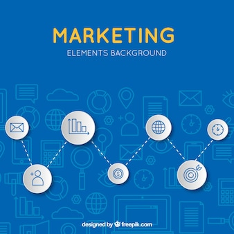 Blue modern marketing background