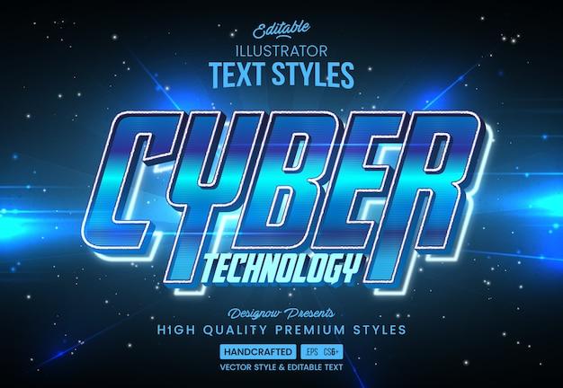 Blue modern technology text style