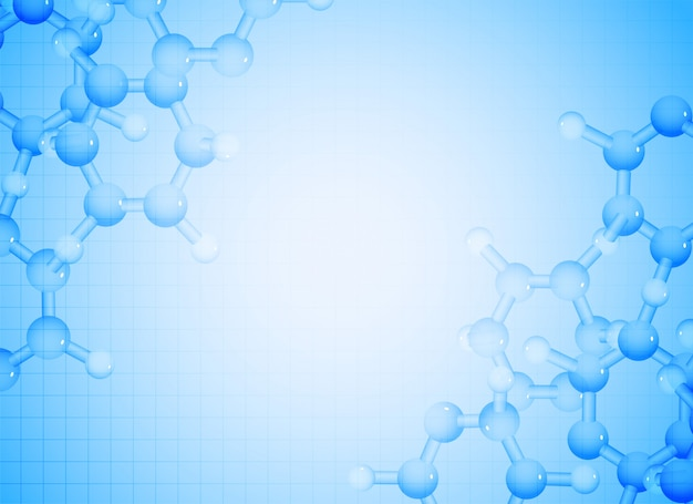 Blue molecules background for science and medical healthcare