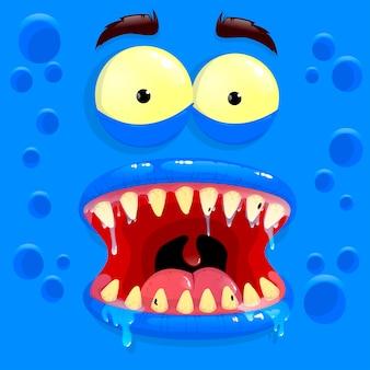Blue monster avatar