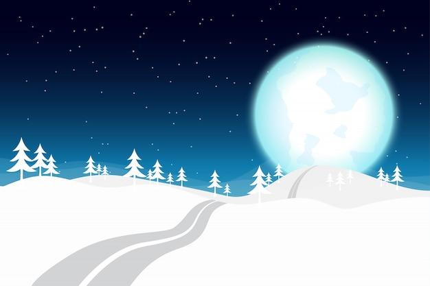 冬の夜のブルームーン