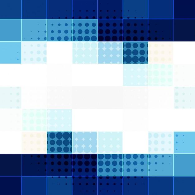 青いモザイクの背景