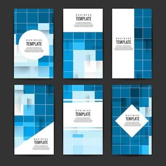 Blu opuscoli mosaico set