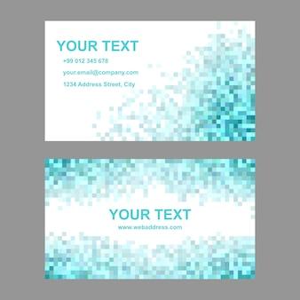 Biglietto da visita blu mosaico