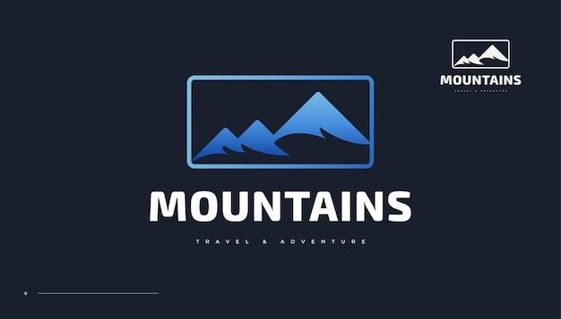 ブルーマウンテンのロゴ。ランドスケープヒルズのロゴデザイン