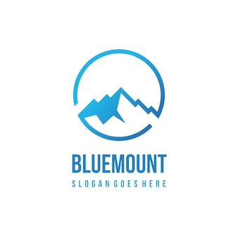 Шаблон логотипа blue mountain